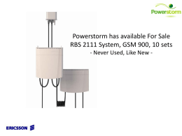 Powerstorm has available 10 units of RBS2111 GSM 900