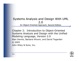 Systems Analysis and Design With UML 2.0
