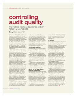 controlling audit quality