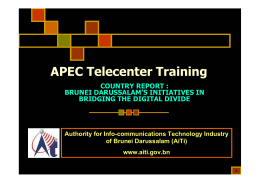 APEC Telecenter Training