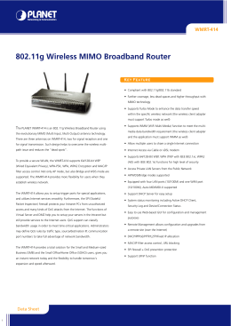 802.11g Wireless MIMO Broadband Router