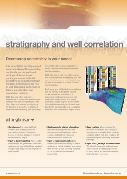 stratigraphy and well correlation