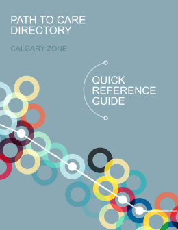 quick reference guide path to care directory