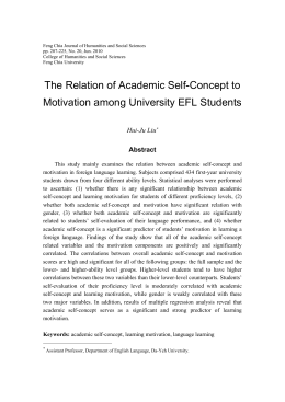 The Relation of Academic Self-Concept to Motivation