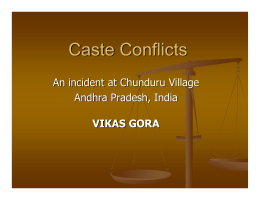 Caste Conflicts - Atheist Centre