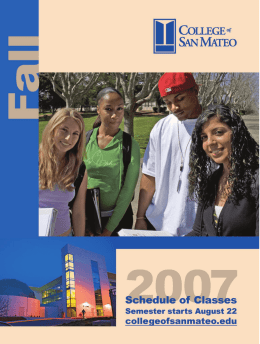 Fall 2007 - College of San Mateo