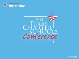 POST CONFERENCE REPORT - texascharterconference.com