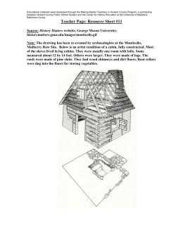 Drawing of a slave cabin