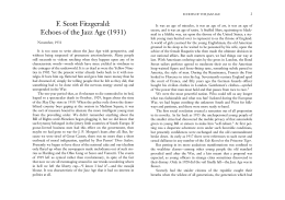 F. Scott Fitzgerald: Echoes of the Jazz Age (1931)