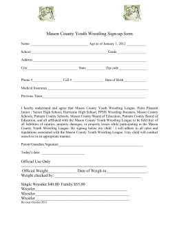 Mason County Youth Wrestling Sign