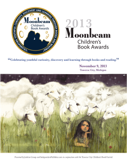 2013 Moonbeam Children`s Book Awards