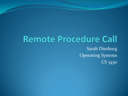 Sarah Diesburg Operating Systems CS 3430