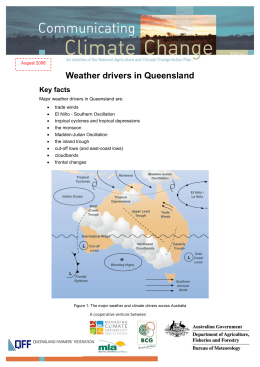 Weather drivers in Queensland
