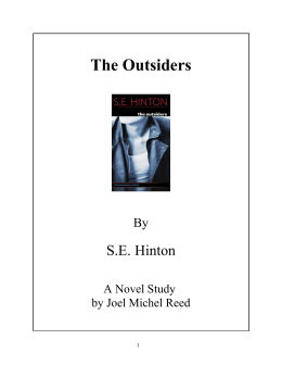 The Outsiders - Reed Novel Studies