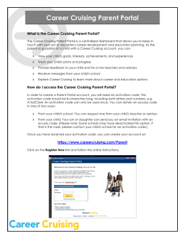 Career Cruising Parent Portal