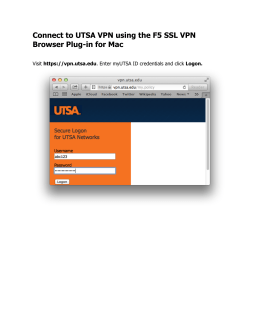 Connect to UTSA VPN using the F5 SSL VPN Browser Plug