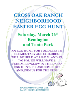 CROSS OAK RANCH NEIGHBORHOOD EASTER EGG HUNT