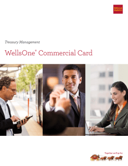 WellsOne® Commercial Card