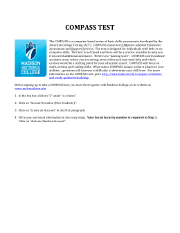 Compass Test Registration Instructions