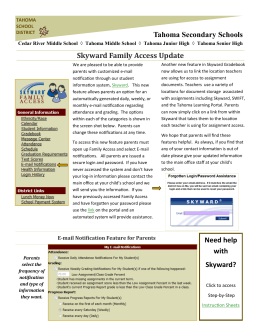Skyward Family Access Update Tahoma Secondary Schools Need