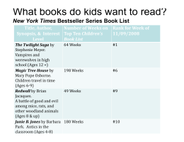What books do kids want to read?