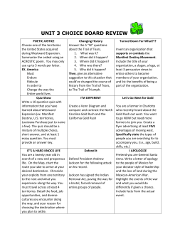 unit 3 choice board review