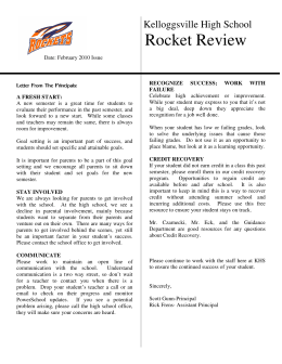 Rocket Review - Kelloggsville High School