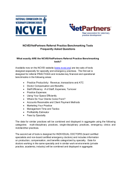 NCVEI/VetPartners Referral Practice Benchmarking Tools