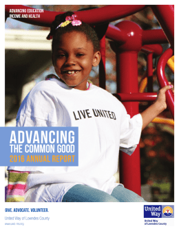 2016 Annual Report - United Way of Lowndes County