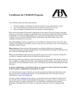 CLE Certificates for CLE Now! Online Courses