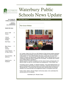 Waterbury Public Schools News Update