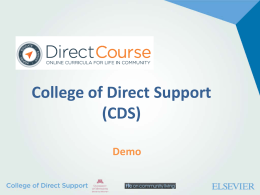 College of Direct Support - Minnesota Department of Human Services