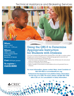 Using the QRI-5 to Determine Appropriate Instruction for Students