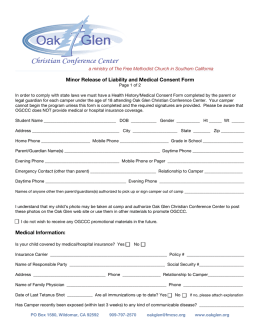 Liability Release and Medical Consent Forms