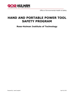 hand and portable power tool safety program - Rose