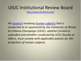 UIUC Institutional Review Board
