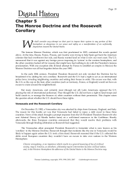 Chapter 5 The Monroe Doctrine and the Roosevelt Corollary
