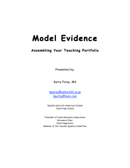 Model Evidence - Solon Community School District