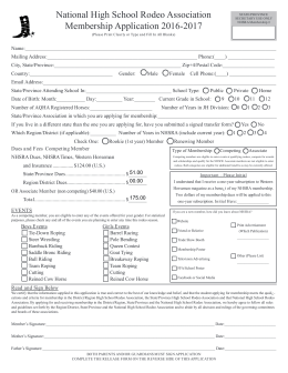 FORM 1 - Nebraska High School Rodeo Association