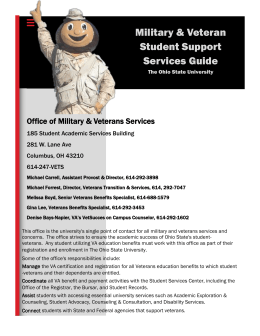 Student Support Services Guide - Toolkit for Veteran Friendly