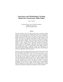 Experiences and Methodologies Teaching Hands