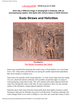Soda Straws and Helictites