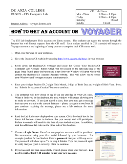Create Your Voyager Account