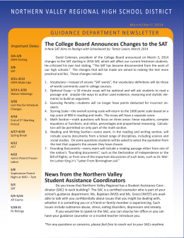 March-April 2014 - Northern Valley Regional High Schools