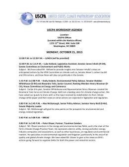 view agenda - The United States Climate Partnership Association