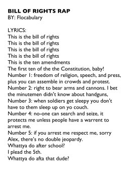 BILL OF RIGHTS RAP BY: Flocabulary LYRICS: This is the bill of