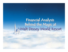 Presentation: Financial Analysis Behind the Magic at Walt Disney