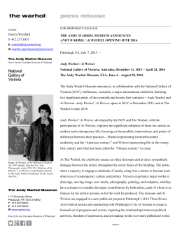 PDF Release - Andy Warhol Museum
