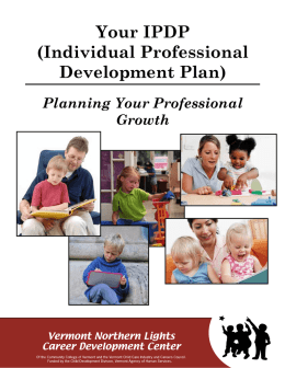 Your IPDP (Individual Professional Development Plan)