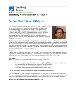 Section Chair`s Note- 2014 year